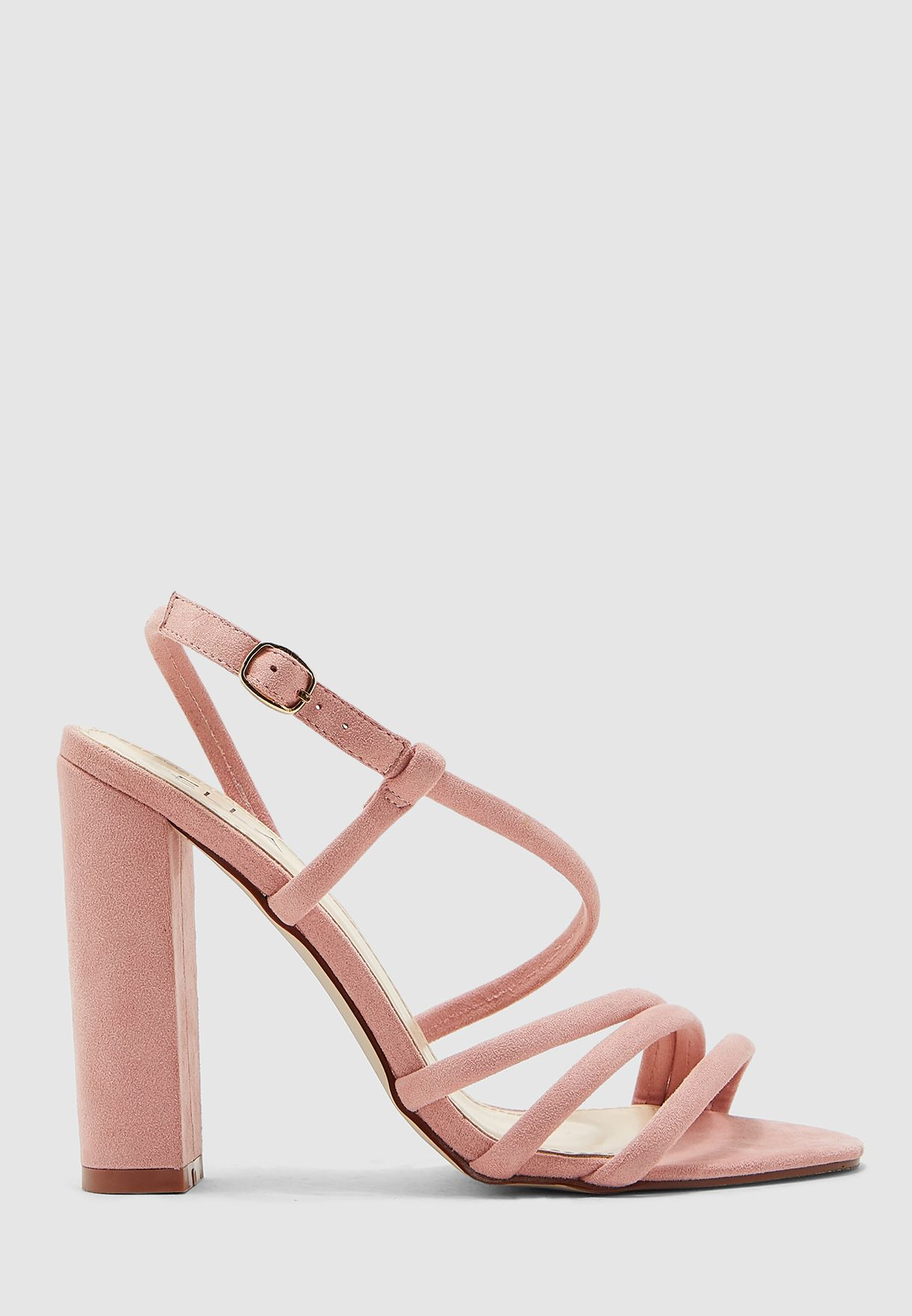 Strappy Sandals With Block Heel