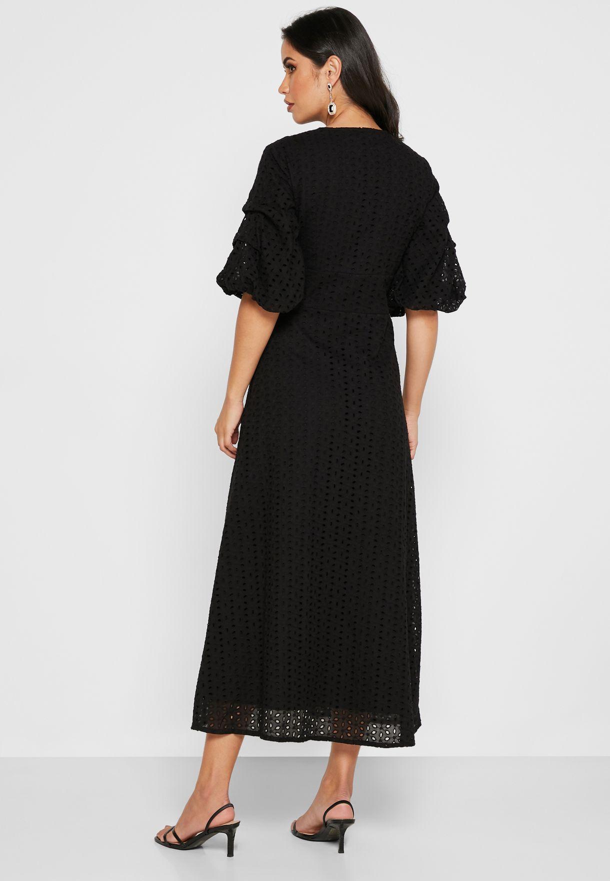 Schiffli Midi Dress