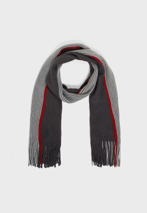 Mens Striped Rochelle Scarf