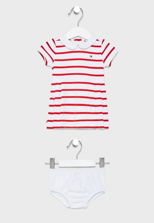 Infant Striped Peter Pan Collar Dress