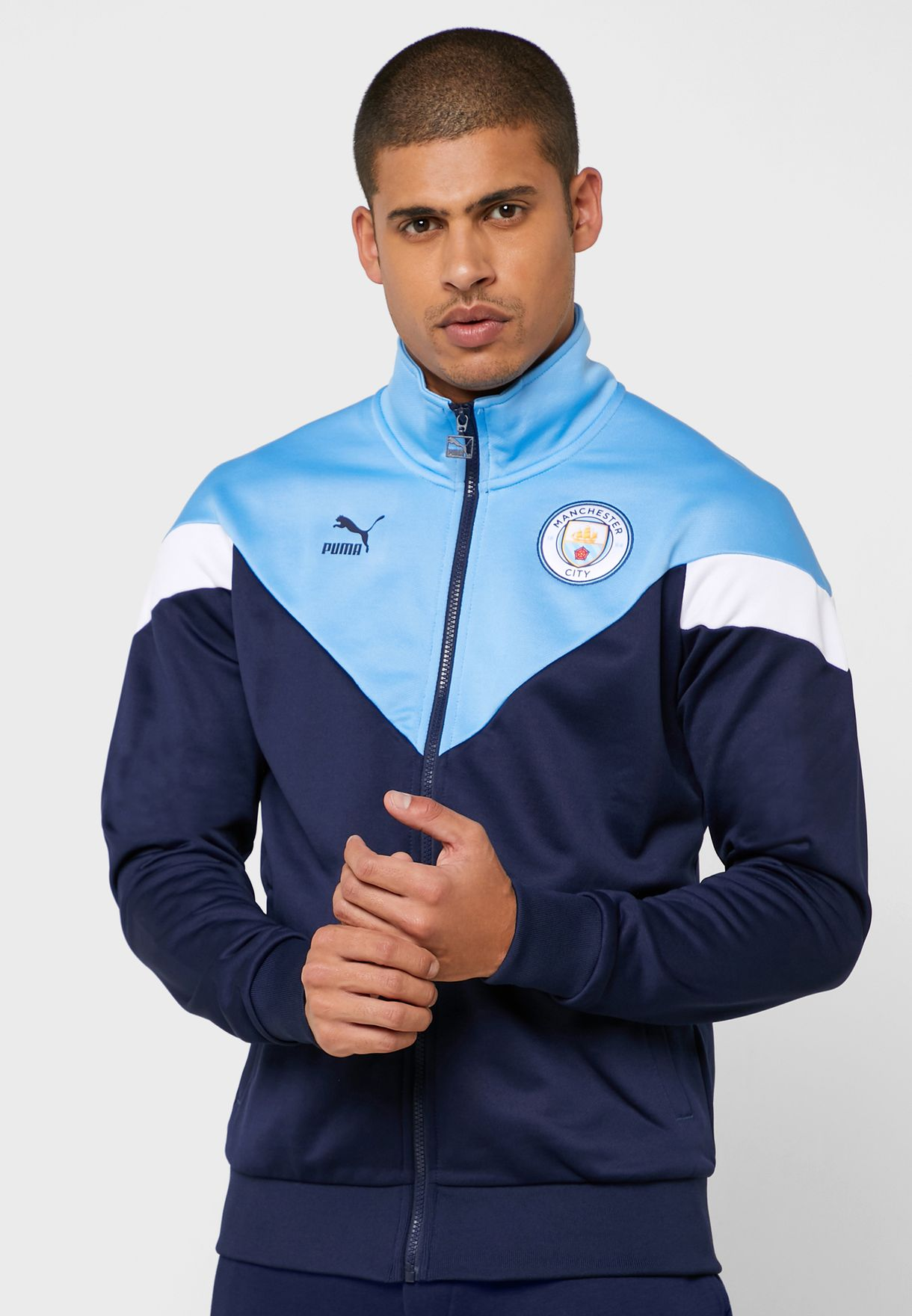 sabor dulce Gran universo Prohibición  Buy PUMA blue Manchester City Iconic MCS Track Jacket for Men in MENA,  Worldwide | 75666425