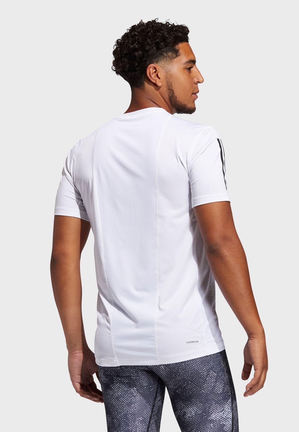 3 Stripe Techfit T-Shirt