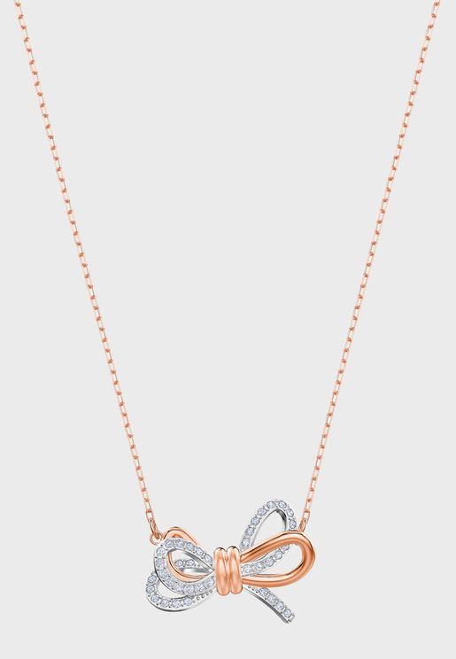 Lifelong Necklace With Bow Pendant