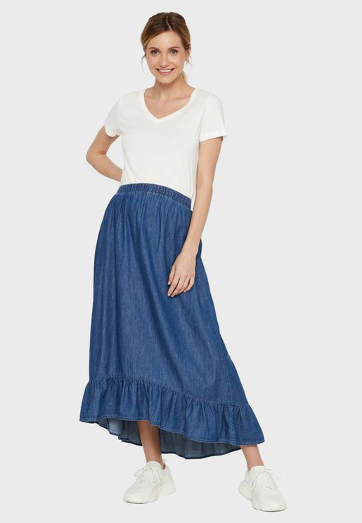 High Low Midi Skirt