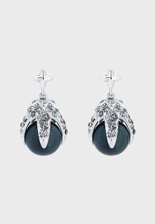Eagle Crystal Ball Drop Earrings