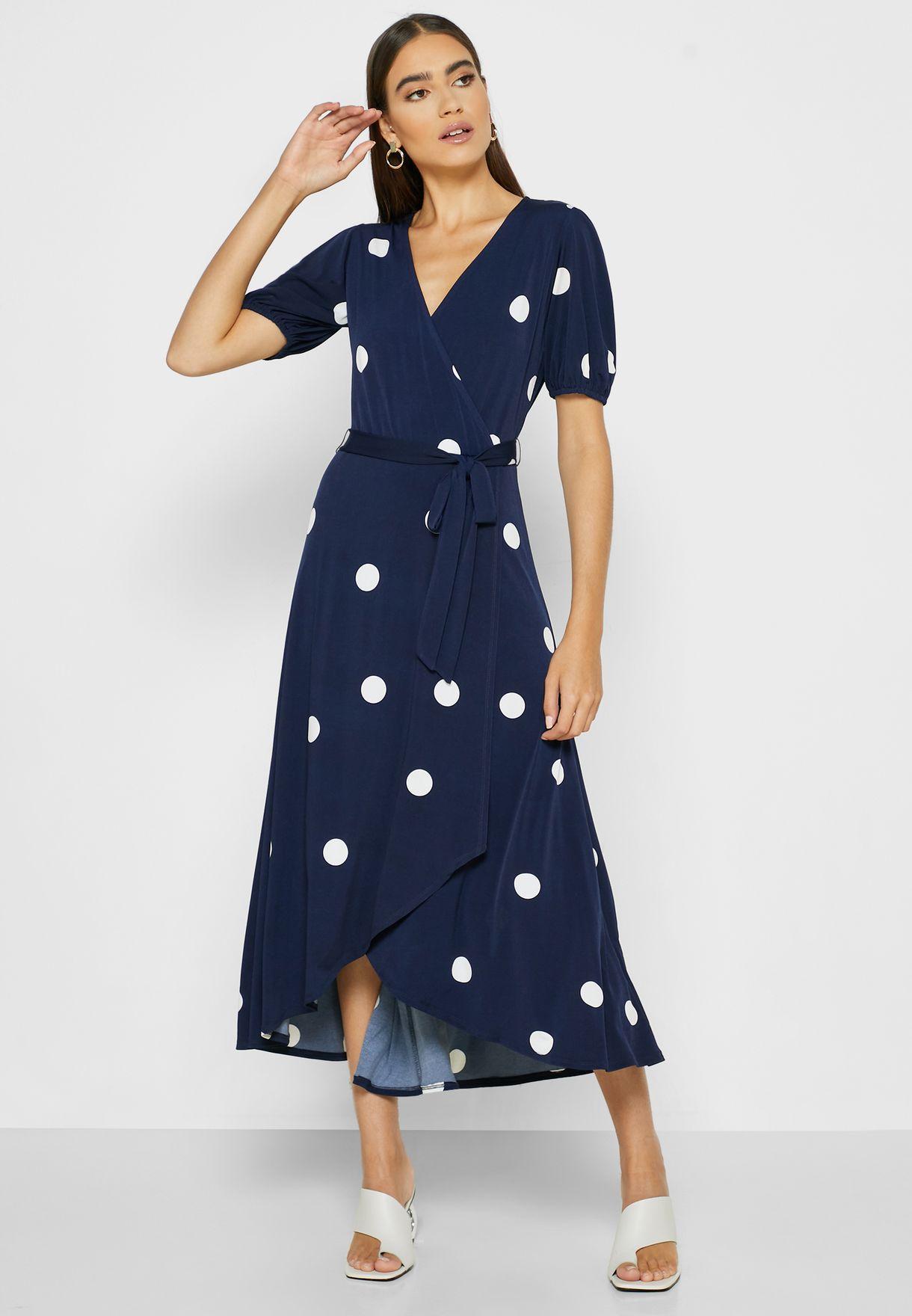 فستان لف بطبعات (مرقع)