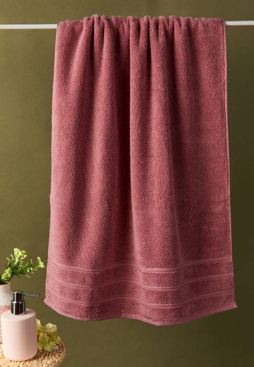 Antalya Bath Towel In Rose Pink