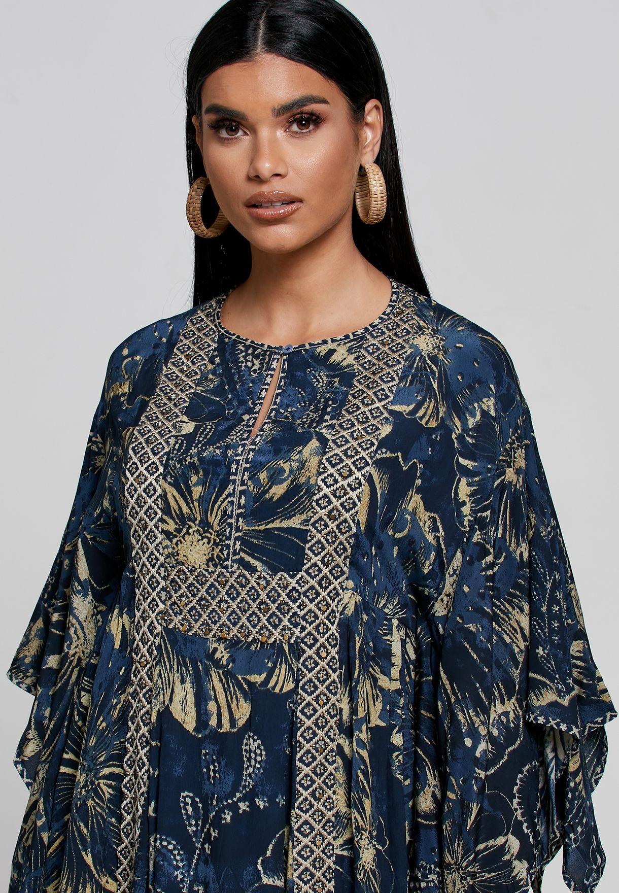Printed Kaftan Dress