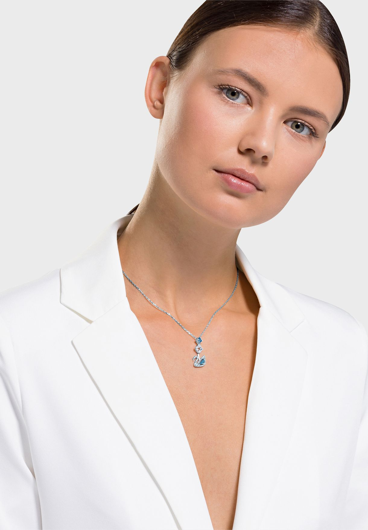 Dazzling Swan Pendant Necklace