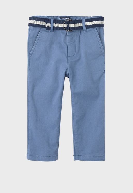 Kids Belted Matching Chino Trouser