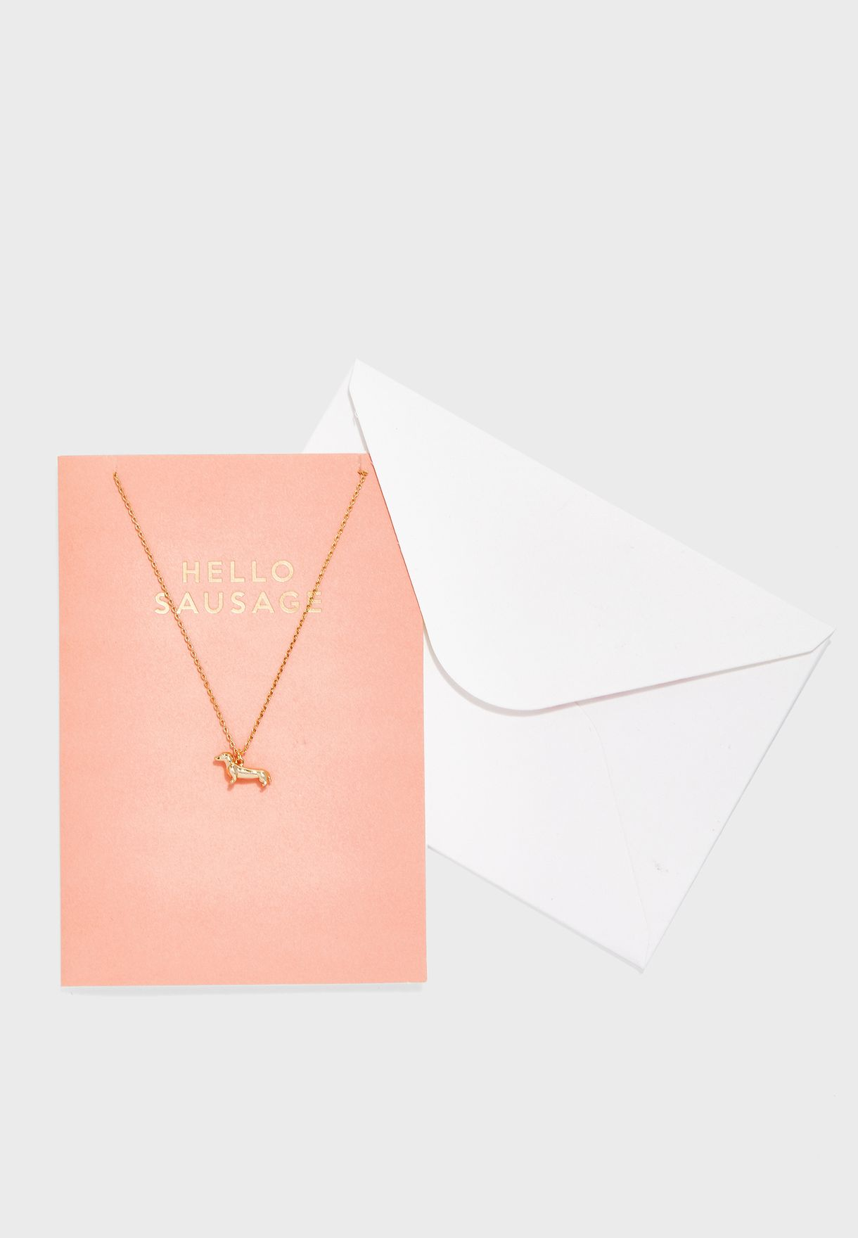 Hello Sausage Necklace With Giftcard