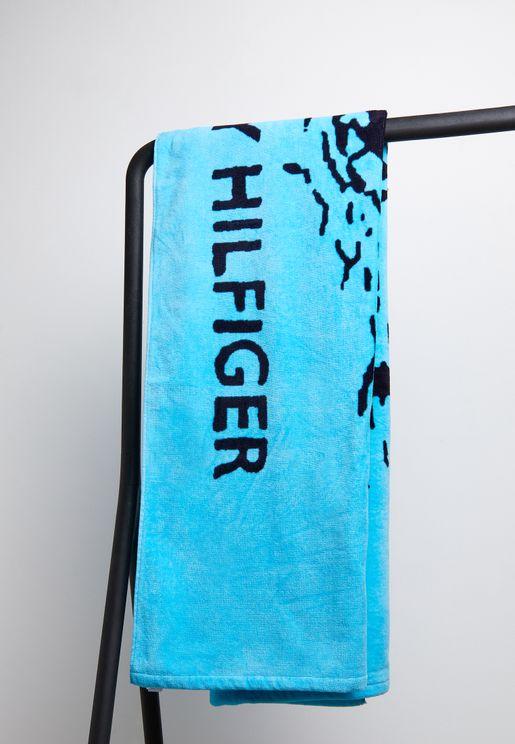 منشفة شاطئ بطباعة نخيل