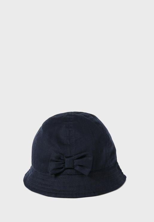 Kids Bow Detail Bucket Hat
