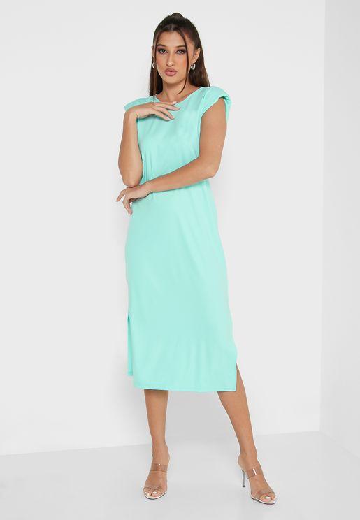 Knit Dress With Side Slit