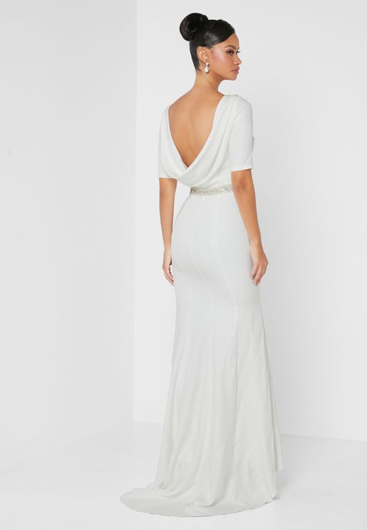 Square Back Bridal Dress