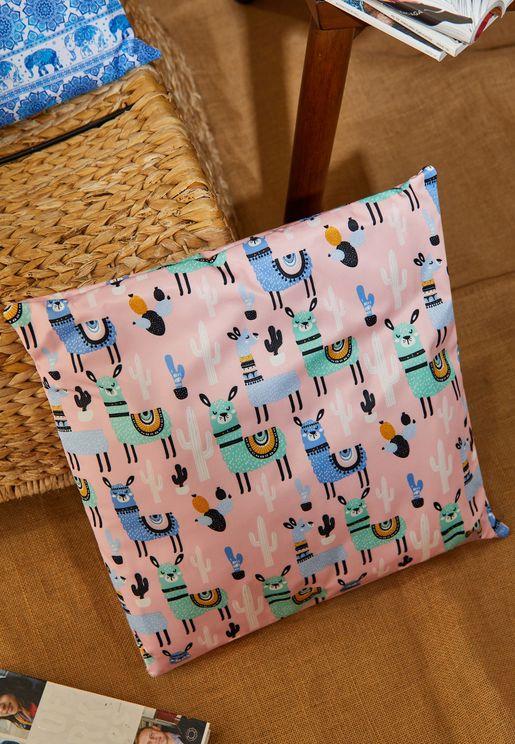 Llama Print Cushion With Insert 45*45