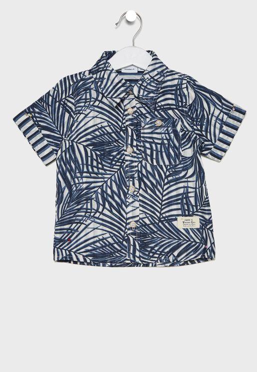 قميص بطباعة زرق شجر للاطفال