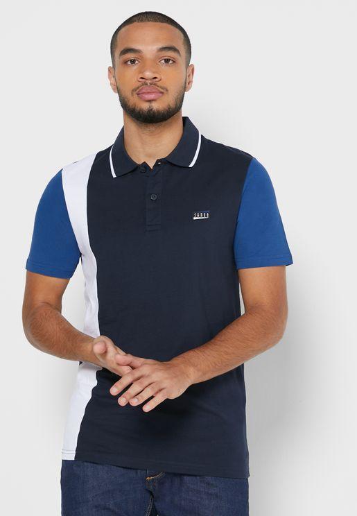 Henric Color Block Slim Fit Polo