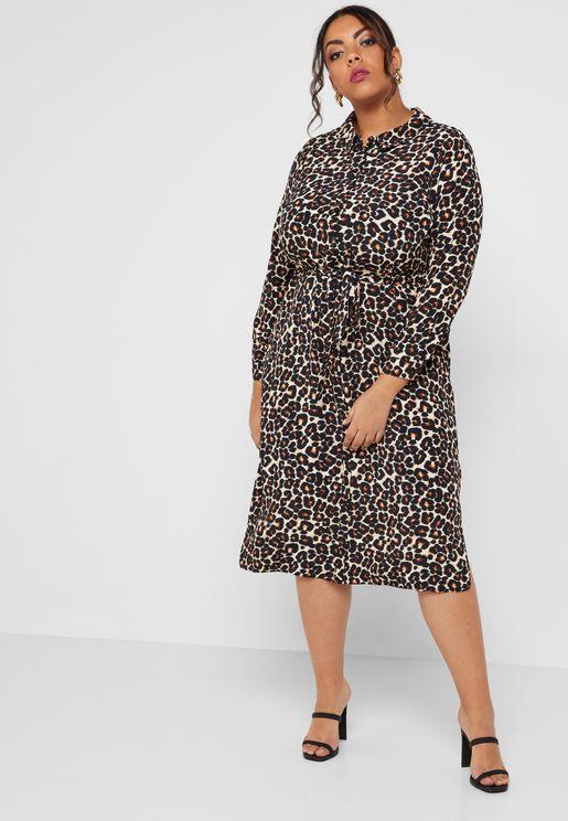 فستان بطبعات ليوبارد