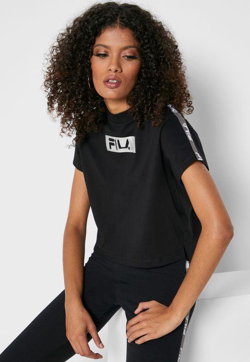 Box Line Cropped T-Shirt