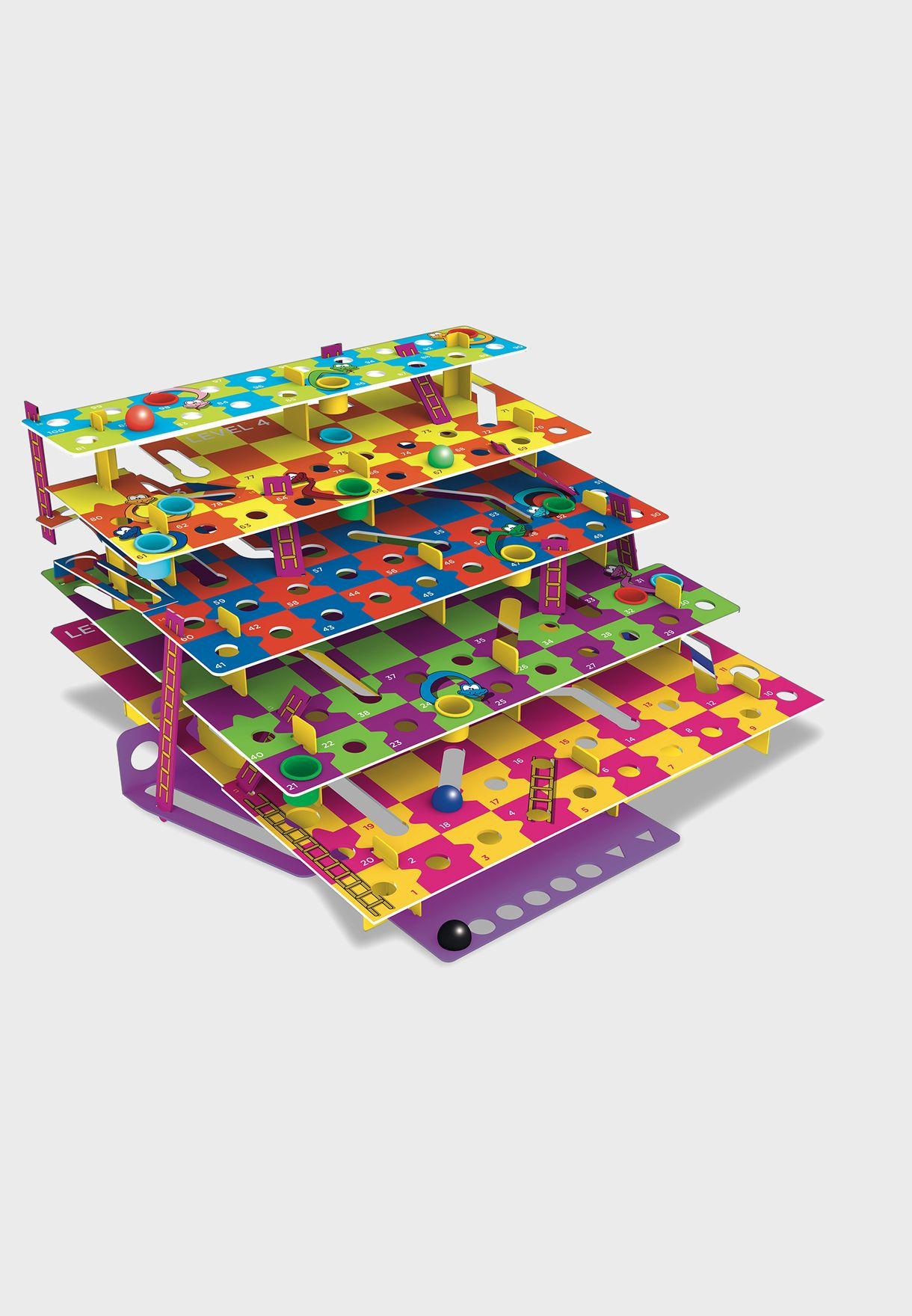 Classic Multi-Level Snakes And Ladders Board Game