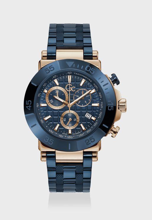 One Chronograph Metal Strap Watch