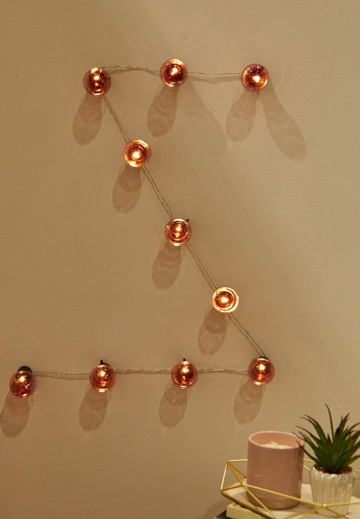 USB Festoon Pink String Lights 10L