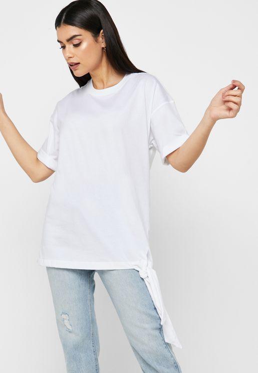 Tie Side Oversized T-Shirt