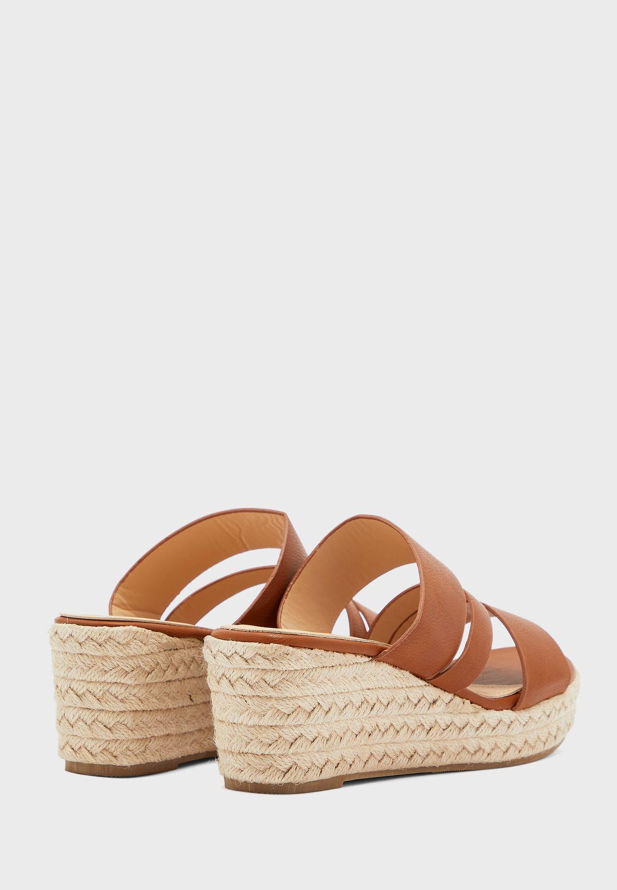 Espadrille Wedge Mule Sandals