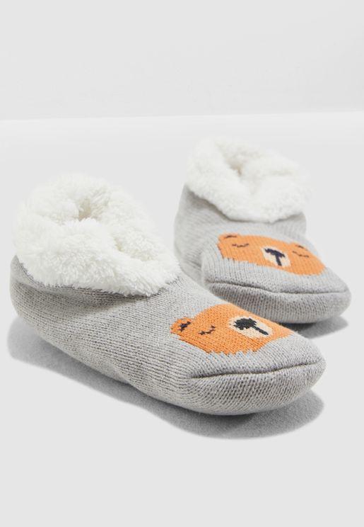 Kids Bear Bedroom Slippers