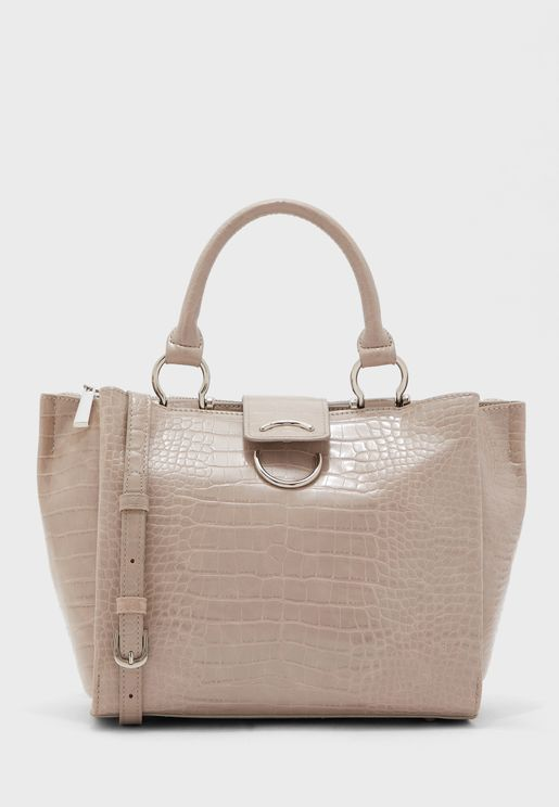 Bento Textured Top Handle Shopper