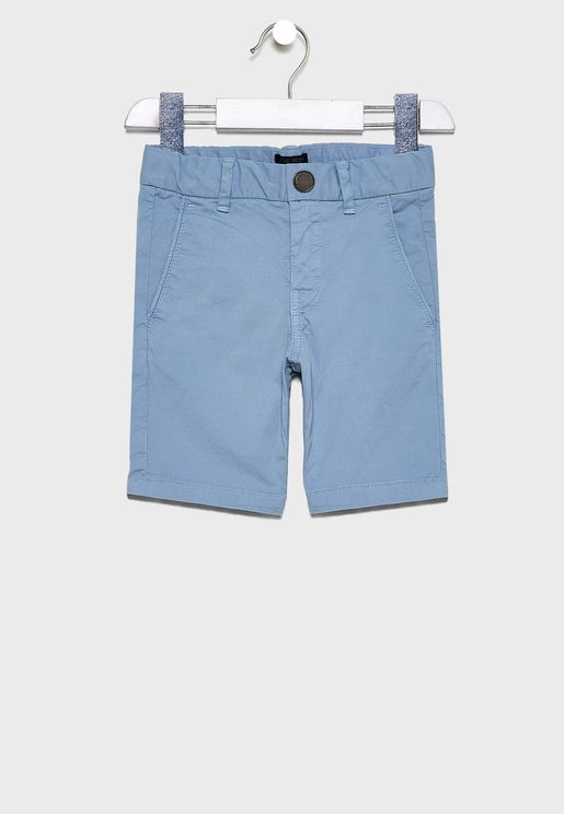 Kids Folded Hem Shorts