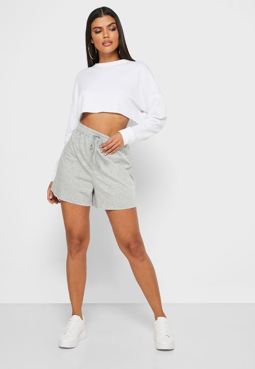 Raw Hem Boyfriend Shorts
