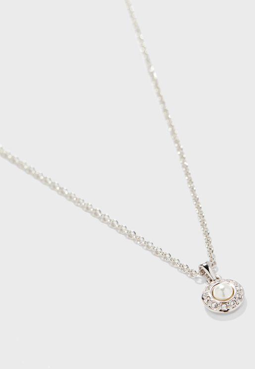 Larcha Daisy Pearl Pendant Necklace