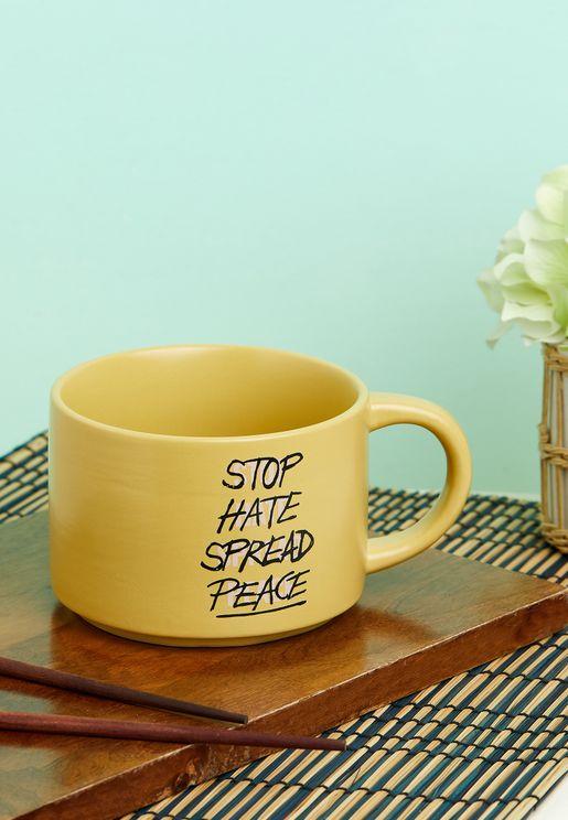 Stop Hate Spread Peace Big Hit Mug