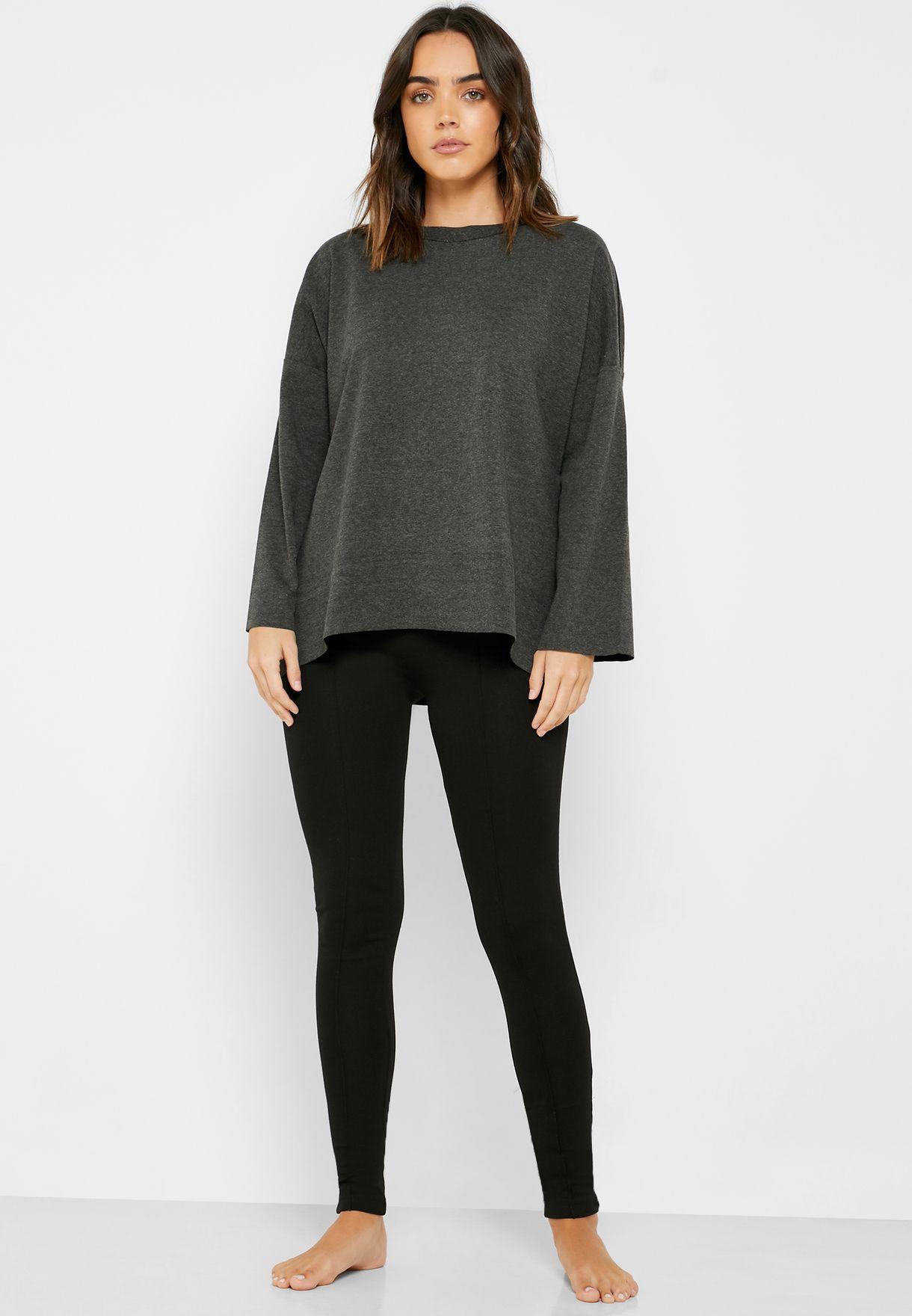Wide Sleeve Oversized T-Shirt & Legging Set