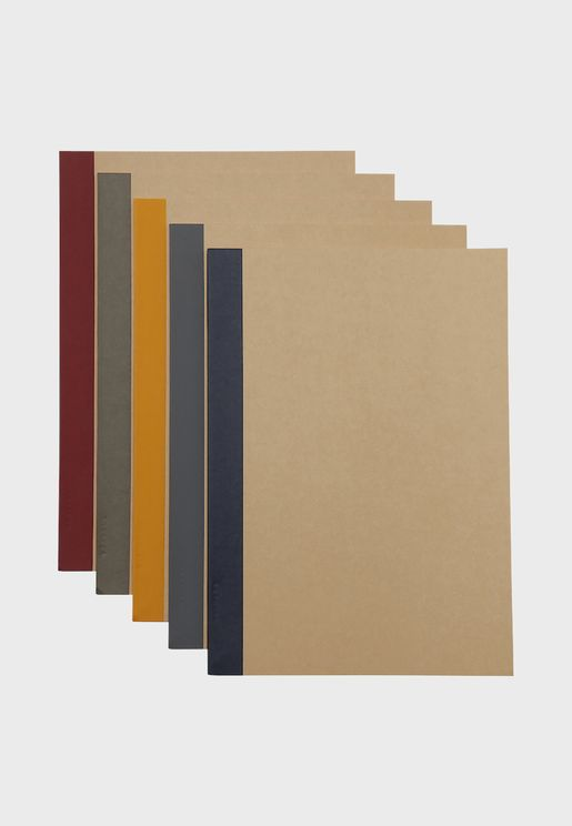 Set Of 5 Planting Tree Paper Notebook