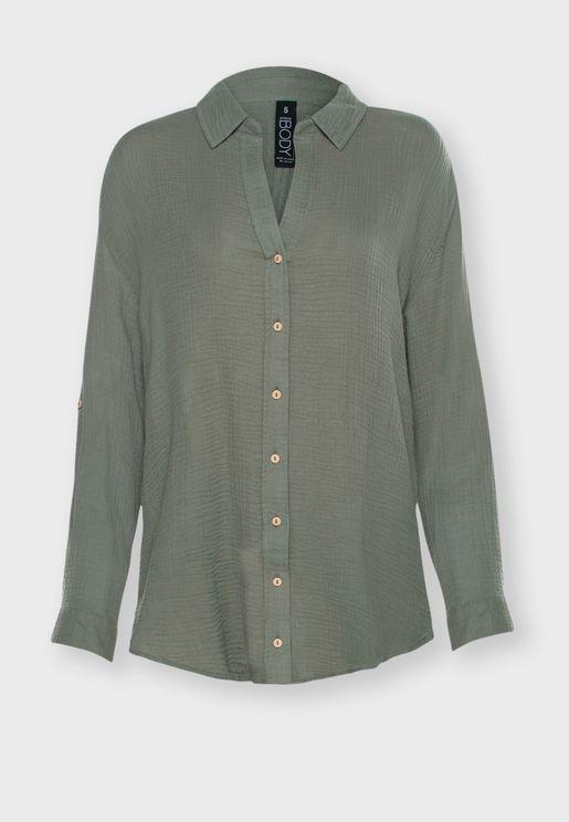 قميص قطني فضفاض