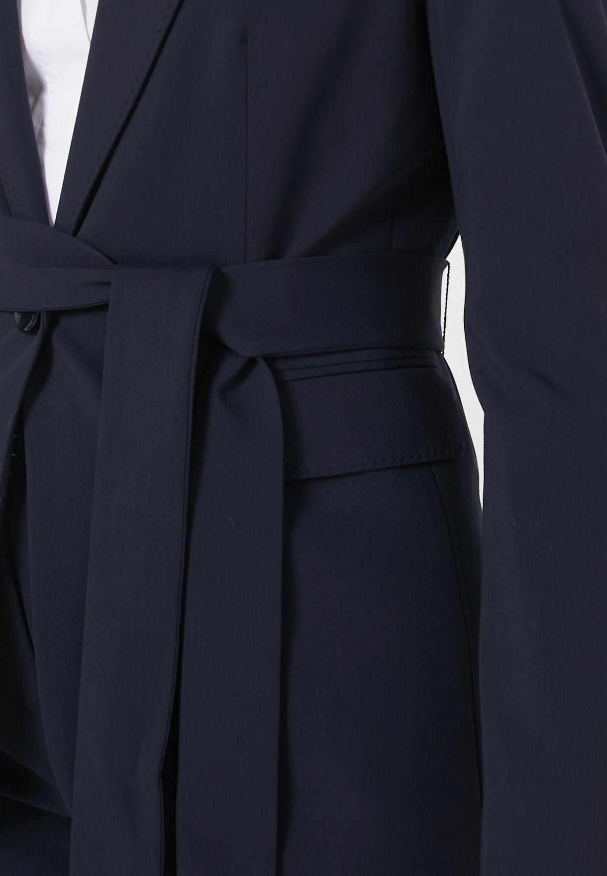 Tie Waist Blazer & Pant Suit