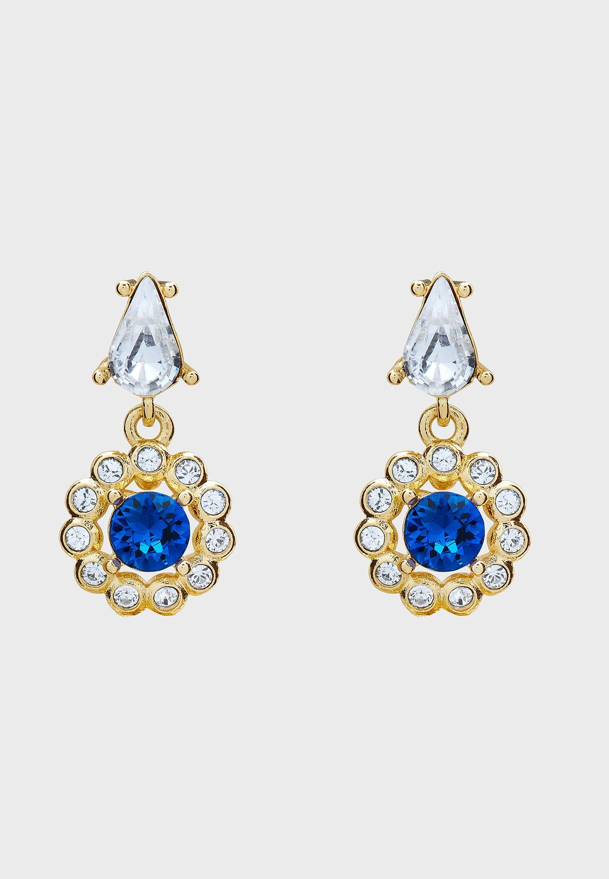Lranha Daisy Crystal Drop Earrings