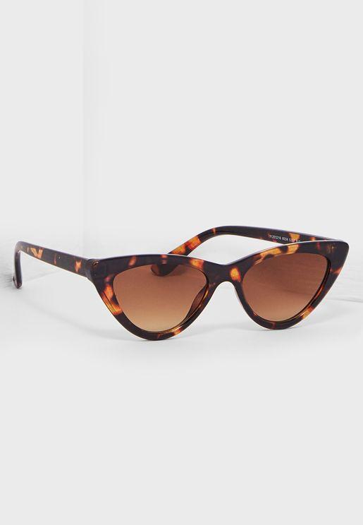 Tortoiseshell Print Cateye Sunglasses
