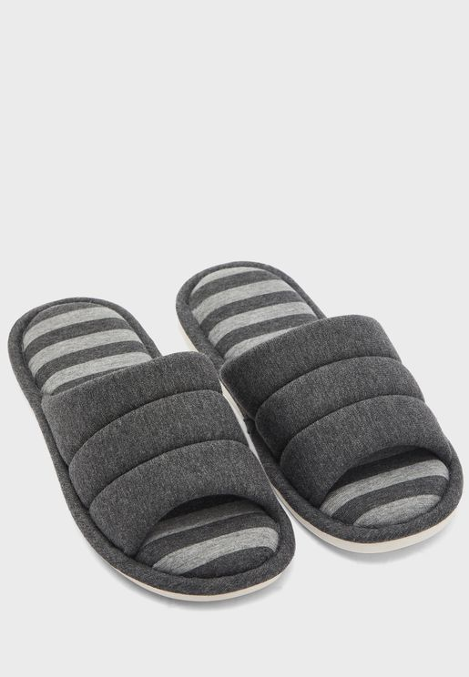 Striped Soft Bedroom Slippers