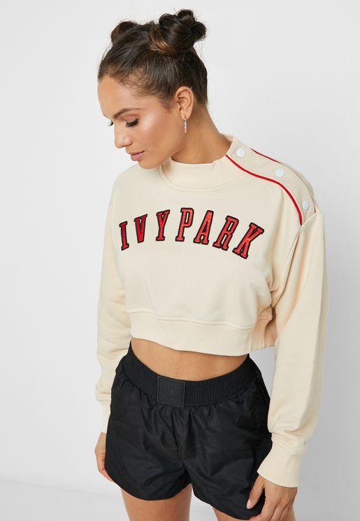Baseball Popper Sweatshirt