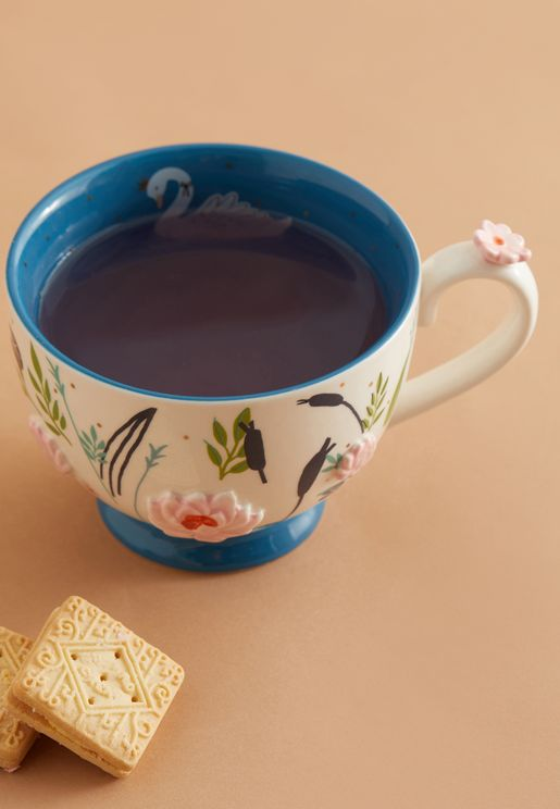كوب شاي مطبع مع علبة هدايا