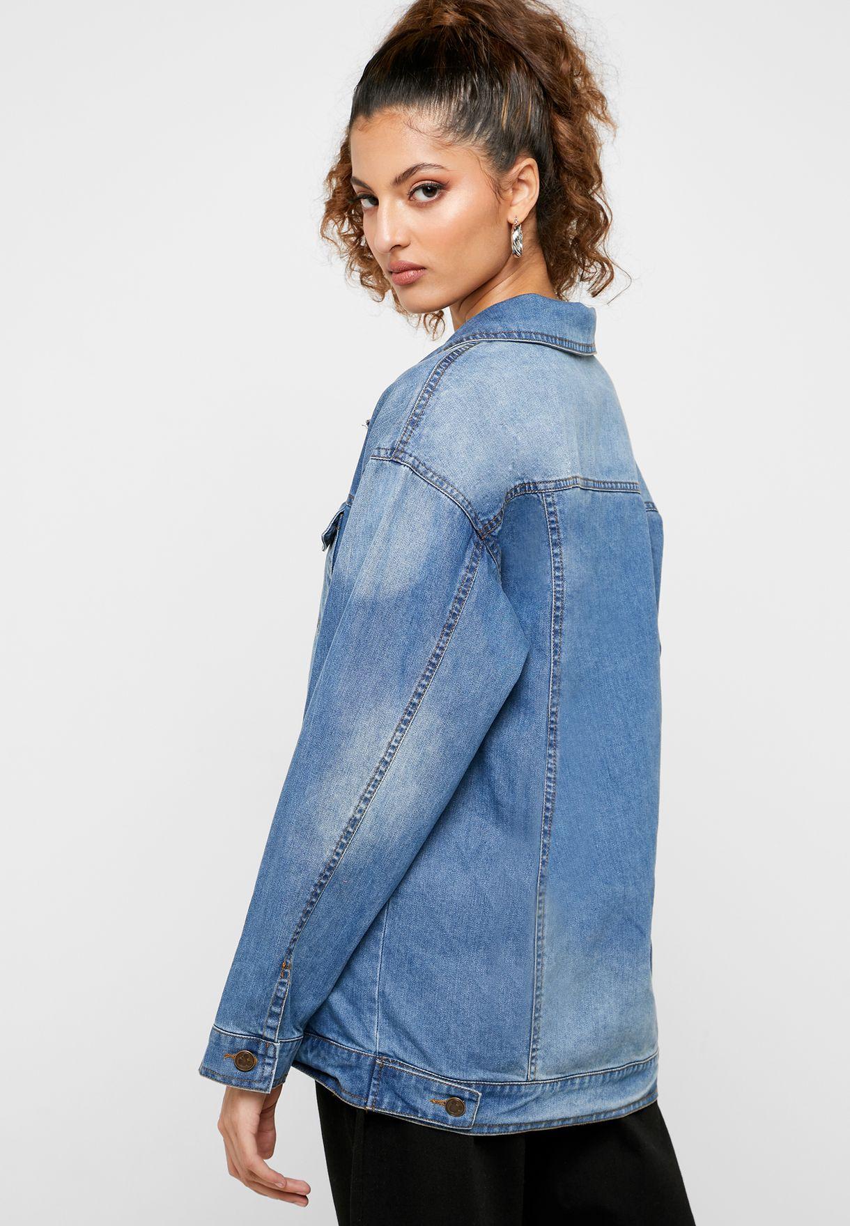 Denim Hooded Jacket