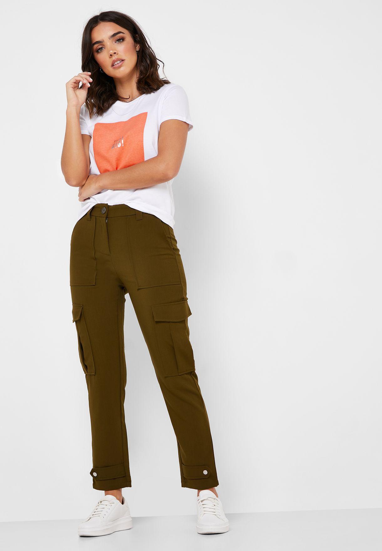 Slim Fit Utility Pants