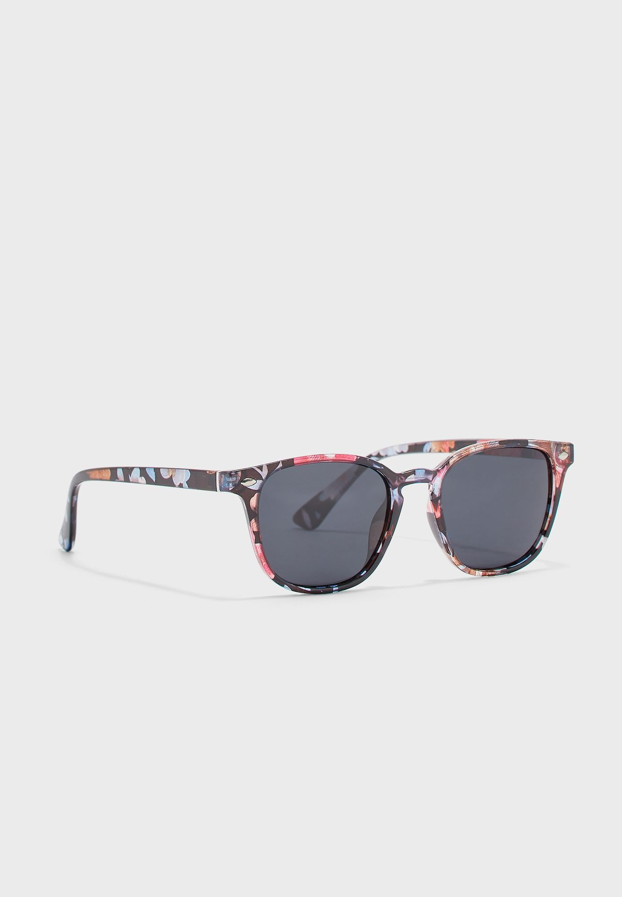 Floral Print Polarized Wayfarer Sunglasses
