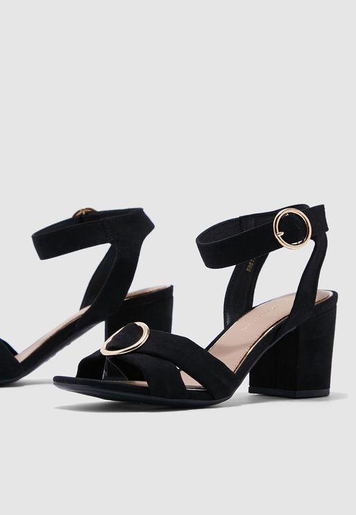 6d12debfff87 Mid-Heel Sandals for Women   Mid-Heel Sandals Online Shopping in ...