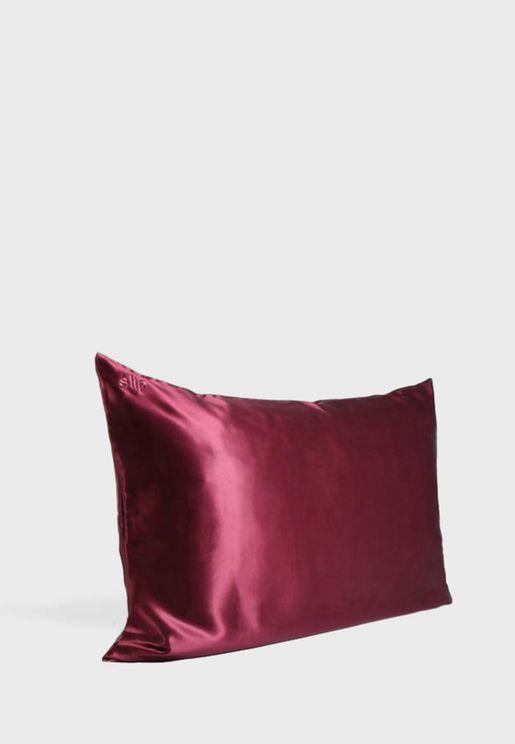 غطاء وسادة حريري كوين سايز - بنفسجي