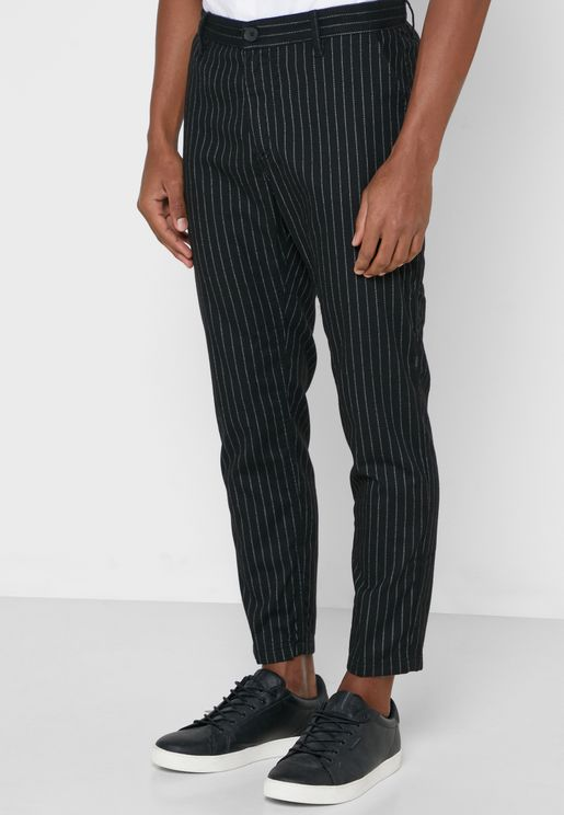 Striped Relaxed Trousers